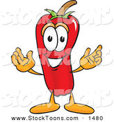 Stock Cartoon of a Red Chili Pepper Mascot Cartoon Character by Toons4Biz
