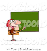 Stock Cartoon of a Red Haired School Teacher by Hit Toon