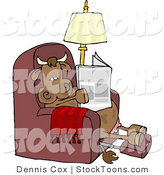 Stock Cartoon of a Relaxed Cow by Djart