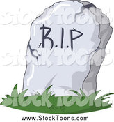 Stock Cartoon of a RIP Grave Marker by Yayayoyo