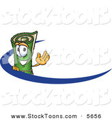 Stock Cartoon of a Rolled Green Carpet Mascot Cartoon Character Logo by Toons4Biz