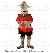 Stock Cartoon of a Royal Canadian by Dennis Cox