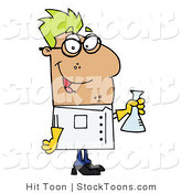 Stock Cartoon of a Scientist by Hit Toon