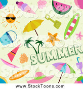 Stock Cartoon of a Seamless Summer Background Pattern by BNP Design Studio