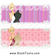 October 1st, 2014: Stock Cartoon of a Set of Fashion Designer Banners by BNP Design Studio