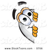 Stock Cartoon of a Smiling Blimp Mascot Cartoon Character Peeking Around a Corner by Toons4Biz