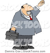 Stock Cartoon of a Smiling Businessman by Dennis Cox