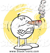 Stock Cartoon of a Smug Moodie Smoking a Cigar by Johnny Sajem