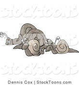Stock Cartoon of a Snails by Dennis Cox