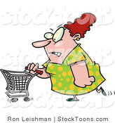 Stock Cartoon of a Stressed out Woman by Ron Leishman