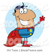 Stock Cartoon of a Super Hero by Hit Toon