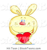 Stock Cartoon of a Sweet Yellow Bunny by Hit Toon