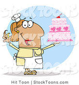 Stock Cartoon of a Tan Cake Maker by Hit Toon