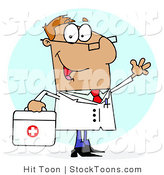 Stock Cartoon of a Tan Doctor by Hit Toon