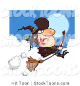 Stock Cartoon of a Ugly Female Witch by Hit Toon