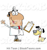 Stock Cartoon of a Veterinarian by Hit Toon