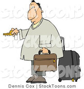 Stock Cartoon of a Weary Traveler by Djart