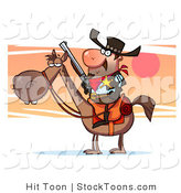 Stock Cartoon of a Western Sheriff Cowboy by Hit Toon