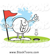 Stock Cartoon of a Wicked Moodie Golfing a Hole in One by Johnny Sajem