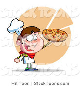 Stock Cartoon of a Young Happy Boy Chef by Hit Toon