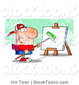 Stock Cartoon of a Young Painter Guy Wearing a Hat by Hit Toon