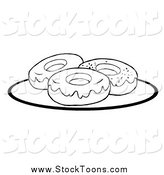 Stock Cartoon of Donuts by Hit Toon