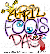 December 16th, 2013: Stock Cartoon of Eyes in April Fools Day Text by BNP Design Studio