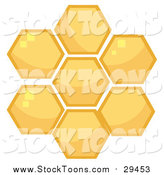 Stock Cartoon of Honey Combs by Hit Toon