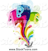 October 23rd, 2014: Stock Cartoon of Letters ABC Bursting from an Open Book by BNP Design Studio