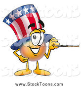 Stock Cartoon of Uncle Sam Holding a Pointer Stick by Toons4Biz