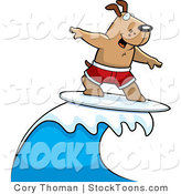 Stock Vector Cartoon of a Surf Doggy by Cory Thoman