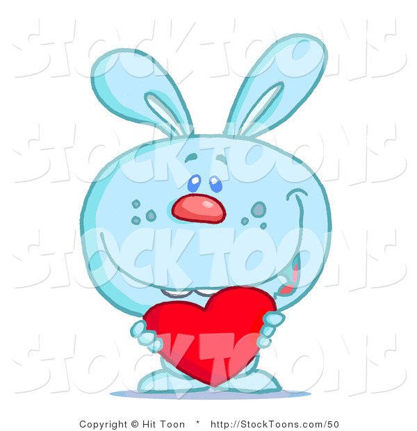 Stock Cartoon of a Blue Bunny Rabbit