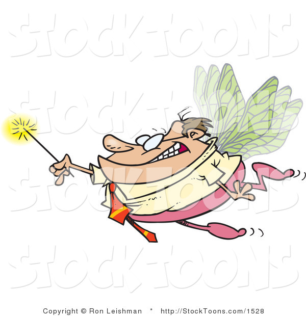 Stock Cartoon of a Business Man Office Fairy