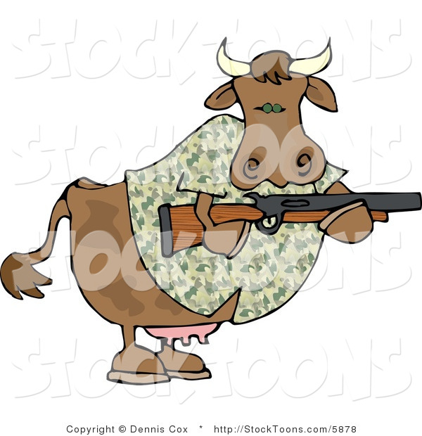 Stock Cartoon of a Camouflaged Cow