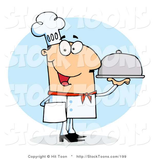 Stock Cartoon of a Chef