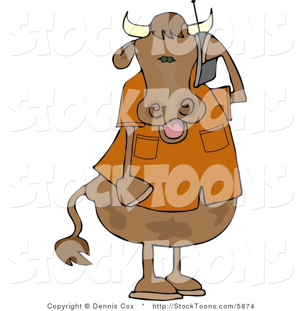 Stock Cartoon of a Cow