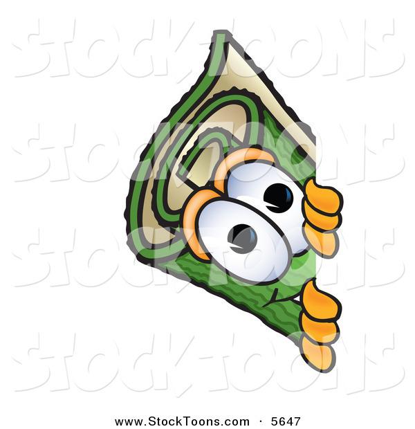 Stock Cartoon Of A Curious Green Carpet Mascot Cartoon