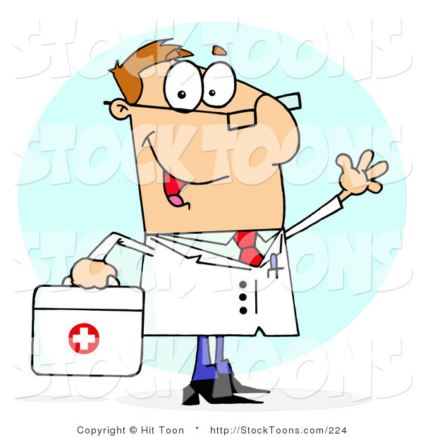 Stock Cartoon of a Doctor