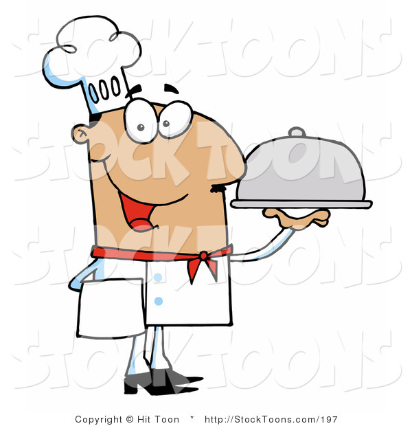 Stock Cartoon of a Friendly Hispanic Male Chef