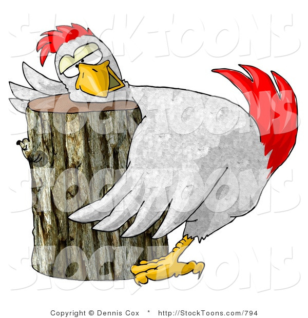 Stock Cartoon of a Funny Chicken