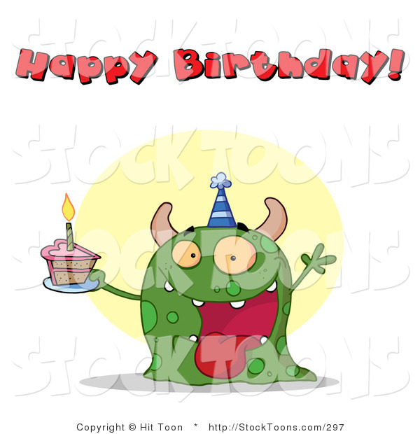 Stock Cartoon of a Happy Birthday