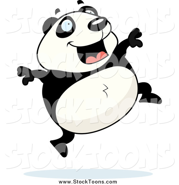 clipart panda running - photo #9
