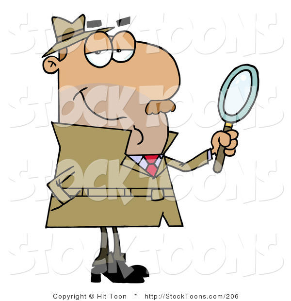 Stock Cartoon of a Hispanic Detective