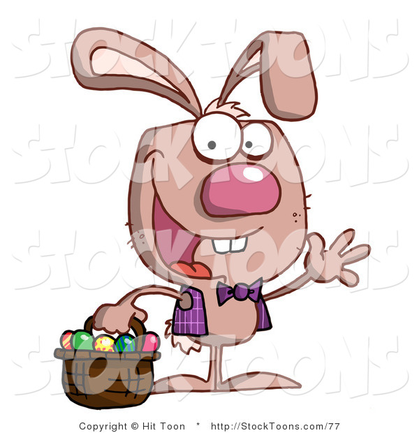 Stock Cartoon of a Spunky Bunny