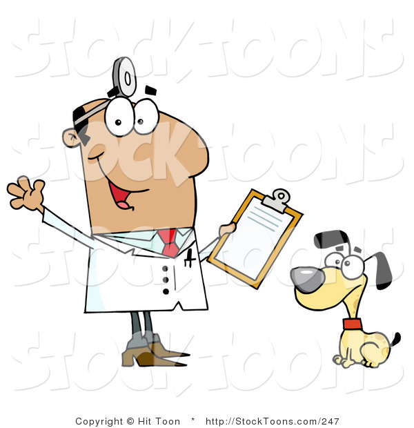 Stock Cartoon of a Veterinarian