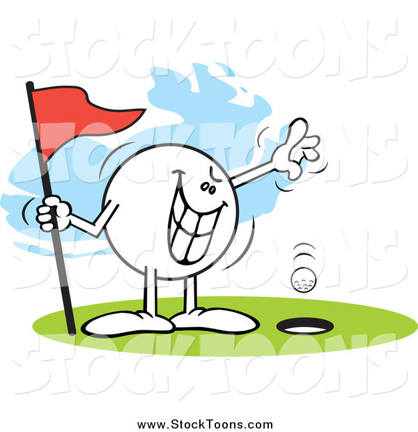 Stock Cartoon of a Wicked Moodie Golfing a Hole in One