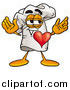Stock Cartoon of a Chefs Hat with His Heart Beating out of His Chest by Toons4Biz