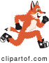Stock Cartoon of a Cute Fox Mascot Cartoon Character Running by Toons4Biz