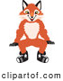 Stock Cartoon of a Cute Fox Mascot Cartoon Character Sitting by Toons4Biz