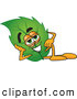 Stock Cartoon of a Eco Friendly Leaf Mascot Cartoon Character Resting His Head on His Hand by Toons4Biz